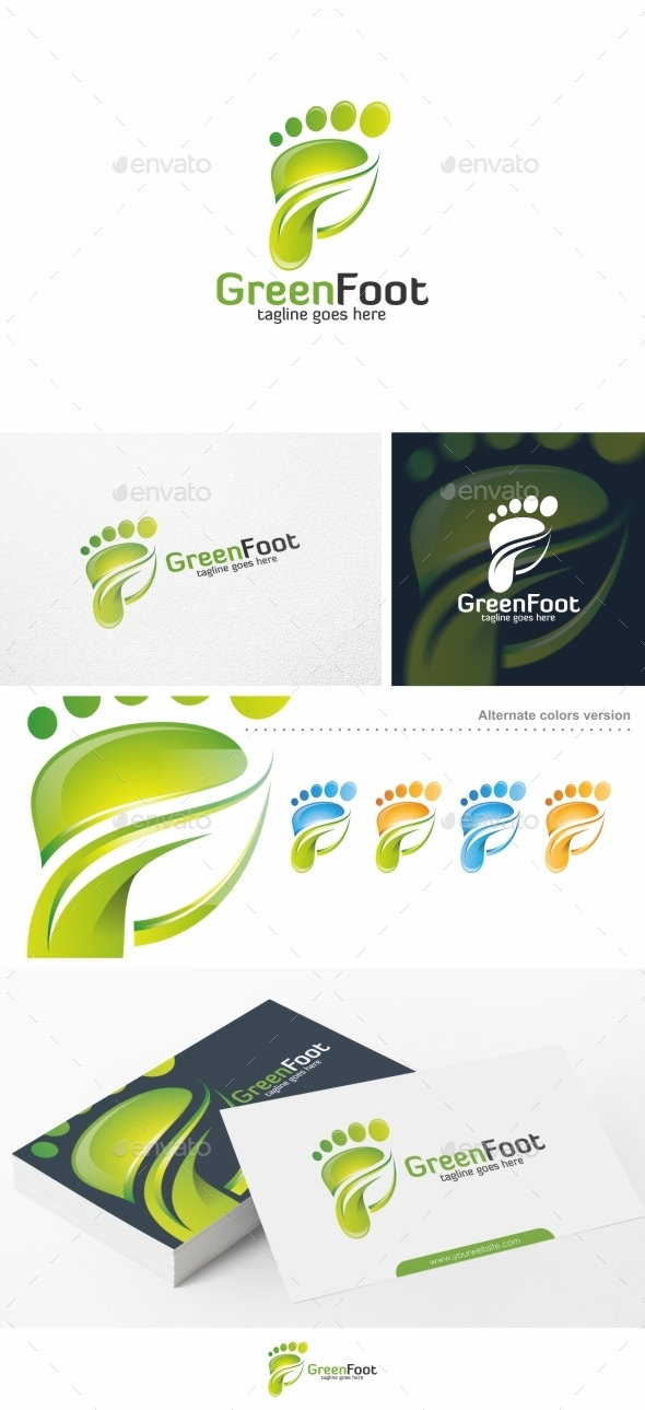 Green Foot - Logo Template - Symbols Logo Templates