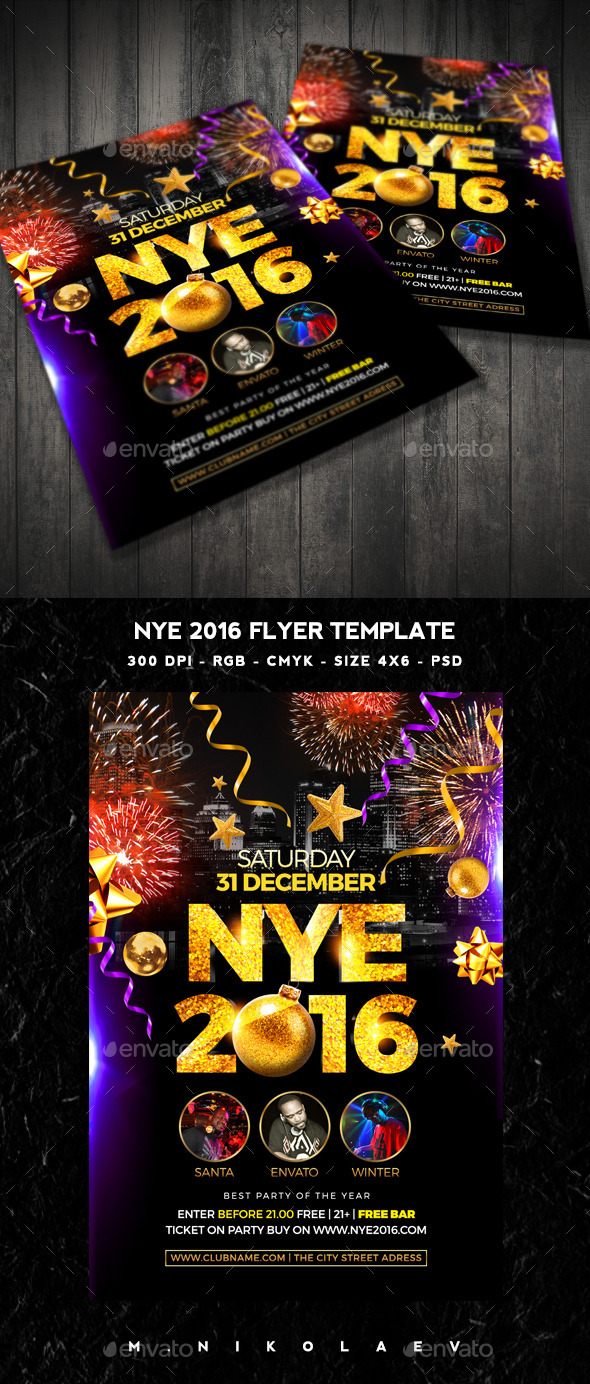 NYE 2016 Flyer - Clubs & Parties Events