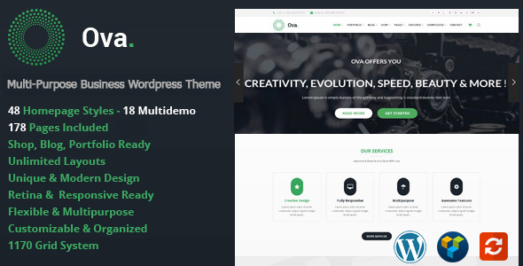OVA - Multi-Purpose WordPress Theme
