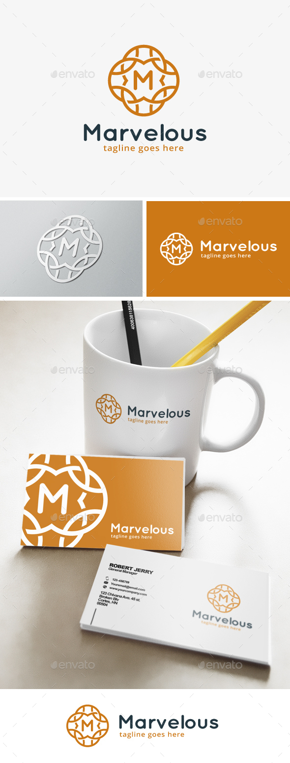 Marvelous Letter M Logo - Abstract Logo Templates