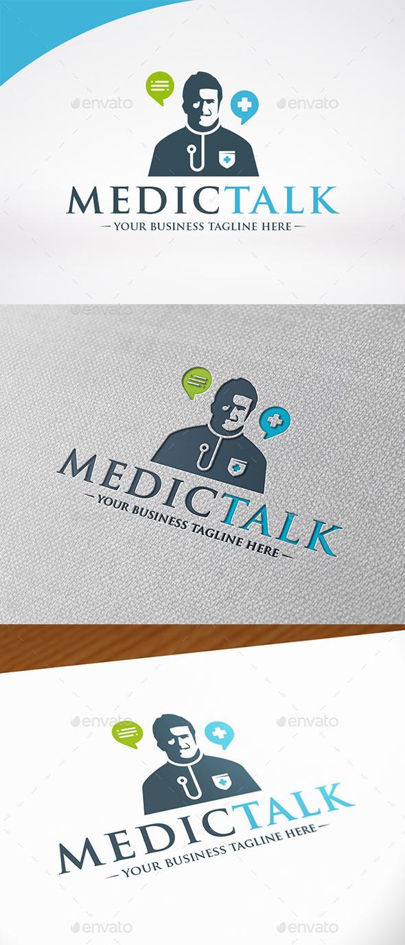 Medic Chat Logo Template - Humans Logo Templates
