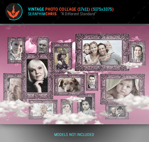 Vintage Photo Collage Template  By Seraphimchris  Graphicriver