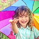 Happy Child Walking In The Rain - VideoHive Item for Sale