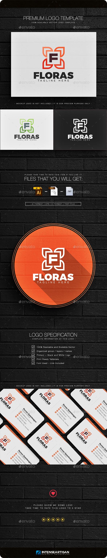 Floras - Letter F Logo - Nature Logo Templates