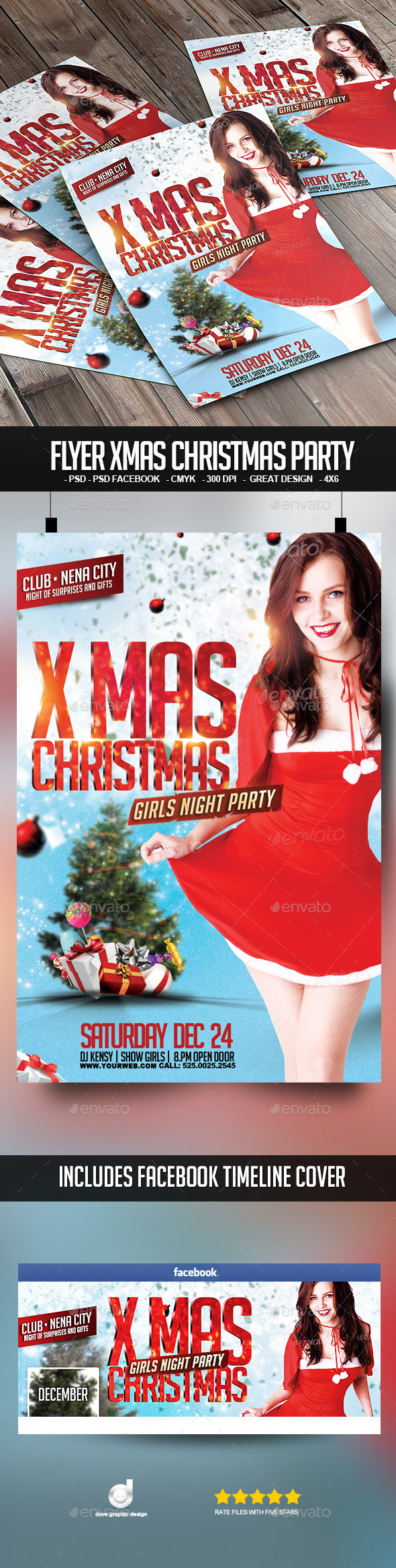 Flyer Xmas Christmas Party - Clubs & Parties Events