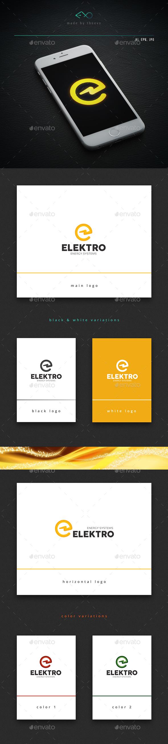 Elektro - Letters Logo Templates