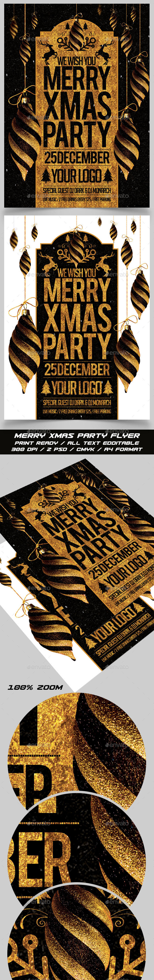 Merry Xmas Party Flyer - Events Flyers