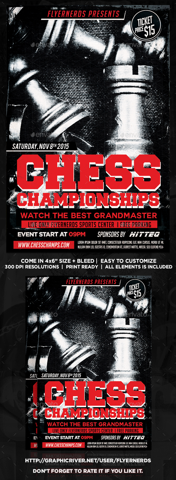 Chess Championships Sports Flyer - Sports Events