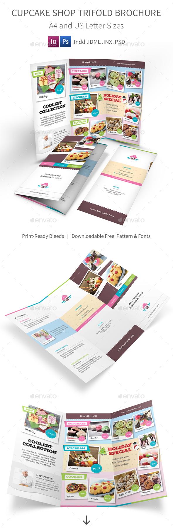 Cupcake Shop Trifold Brochure - Informational Brochures