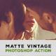 4 Photoshop Matte Action - GraphicRiver Item for Sale