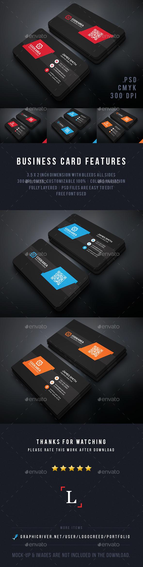 Soft Dark Business Cards - Business Cards Print Templates