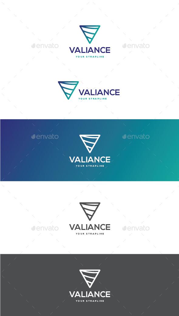 Valiance Letter V Logo - Letters Logo Templates