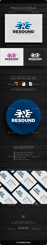 Resound - Letter R Logo - Letters Logo Templates