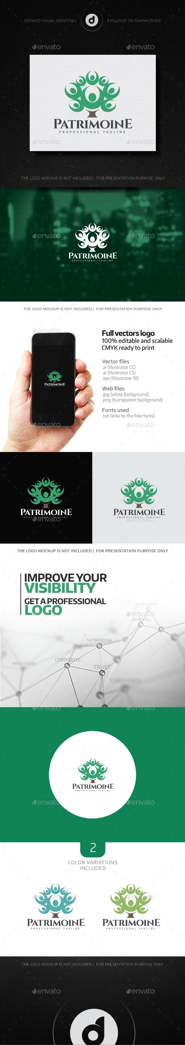 Patrimoine Logo - Humans Logo Templates