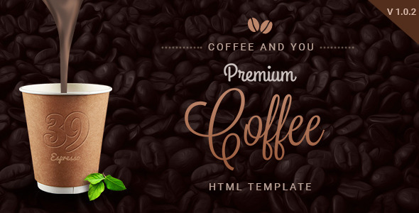 coffee shop multipage html restaurant template by 0effortthemes themeforest. Black Bedroom Furniture Sets. Home Design Ideas