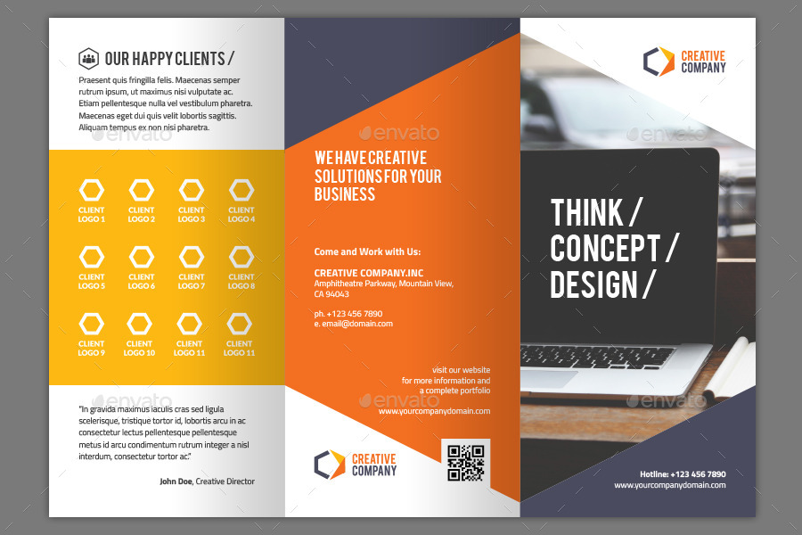 tri fold creative brochure template by heriwibowo graphicriver