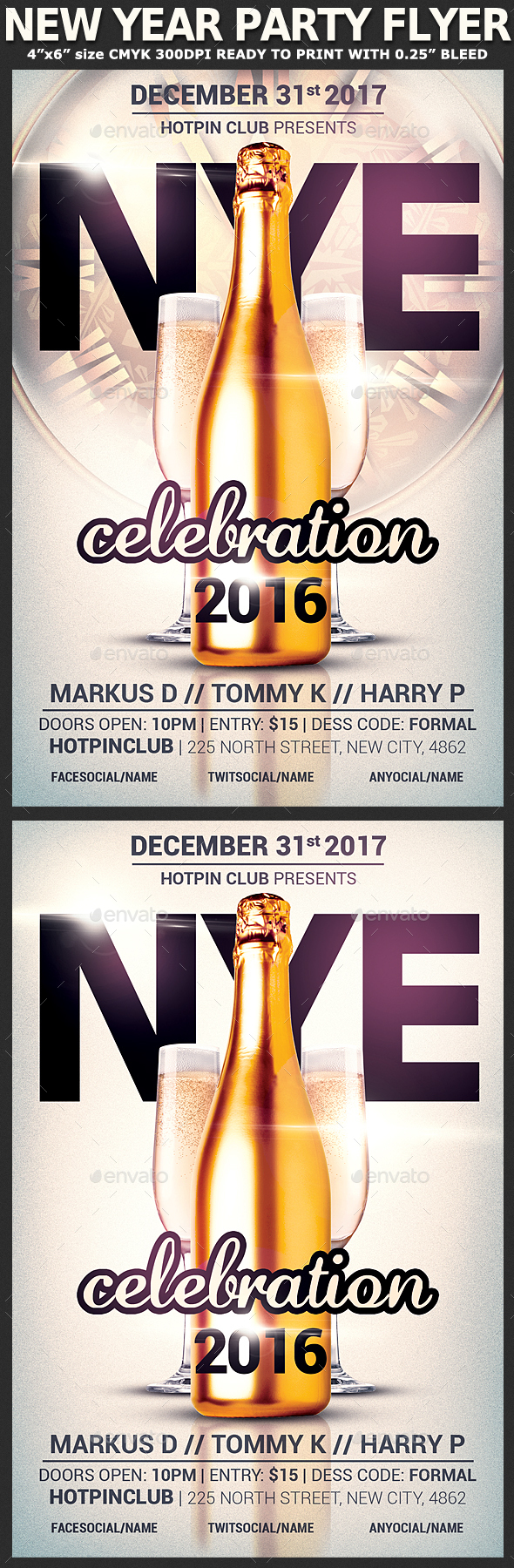 New Years Eve Party Flyer Template - Holidays Events