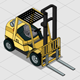 Isometric Forklift - GraphicRiver Item for Sale