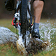 Cyclist Rides Through Puddles - VideoHive Item for Sale