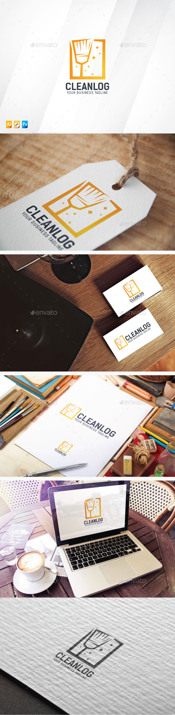 Clean Logo - Objects Logo Templates
