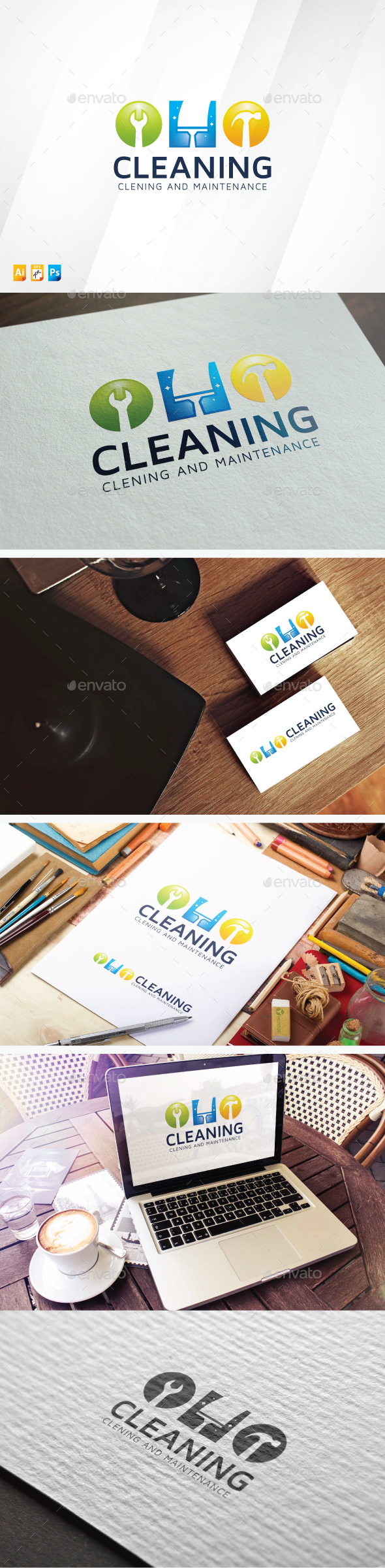 Cleaning Logo - Objects Logo Templates