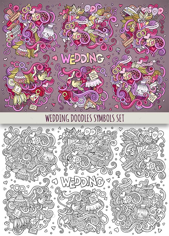 Wedding Doodles Symbols & Elements - Weddings Seasons/Holidays