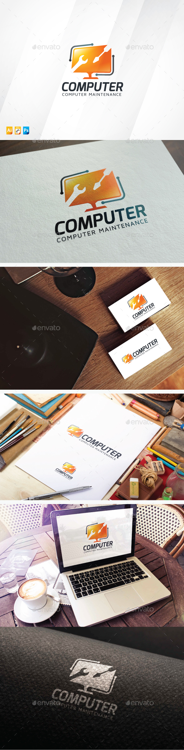 Computer Maintenance Logo - Objects Logo Templates