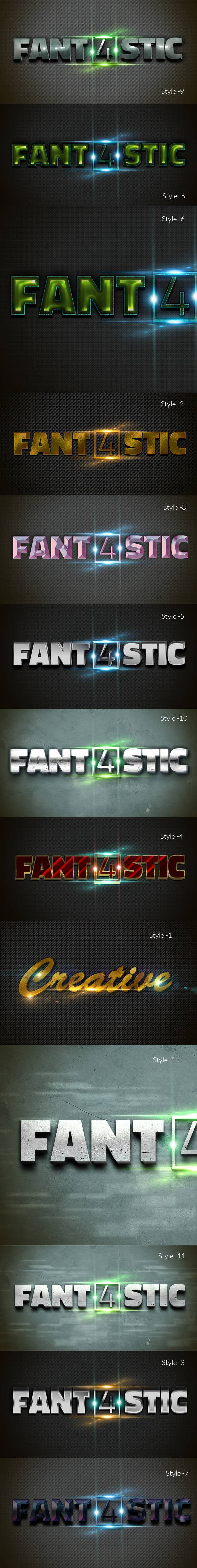 3D Photoshop Layer Style Text Effects - Text Effects Actions