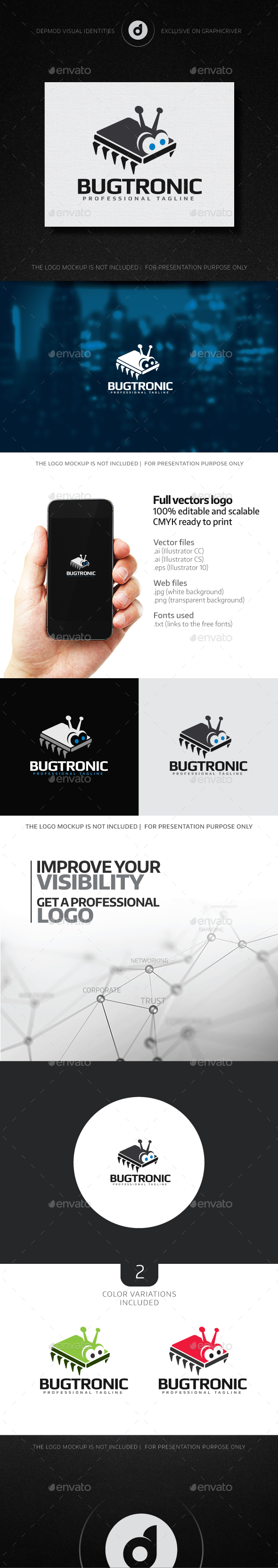 Bugtronic Logo - Objects Logo Templates