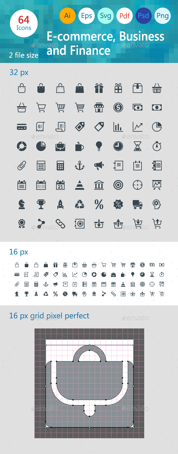 E-commerce Business and Finance - Business Icons