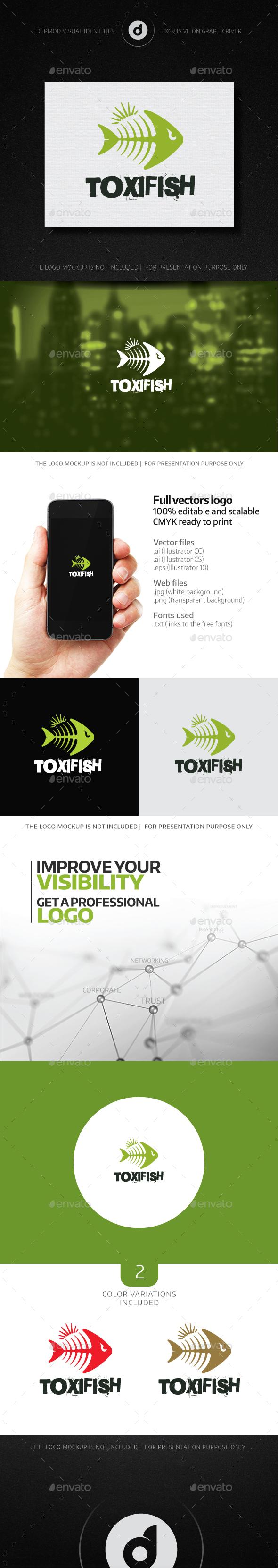 ToxiFish Logo - Animals Logo Templates