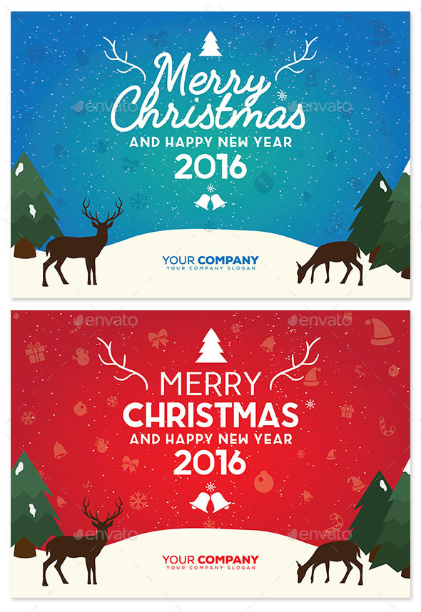 Christmas Background with Vintage Typography - Christmas Seasons/Holidays