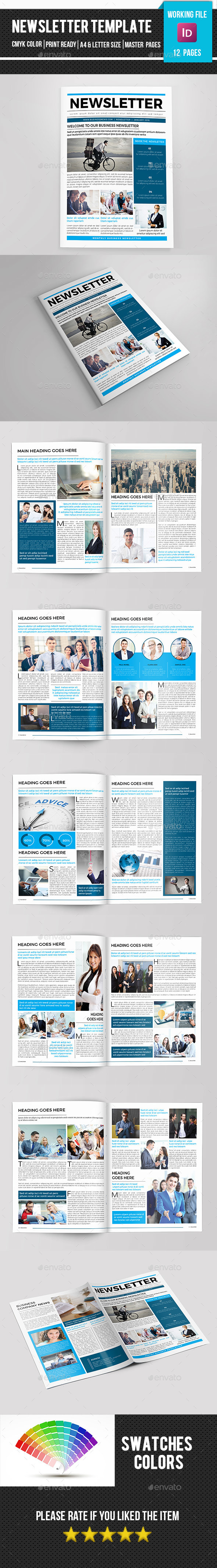 Corporate Newsletter-V08 - Newsletters Print Templates