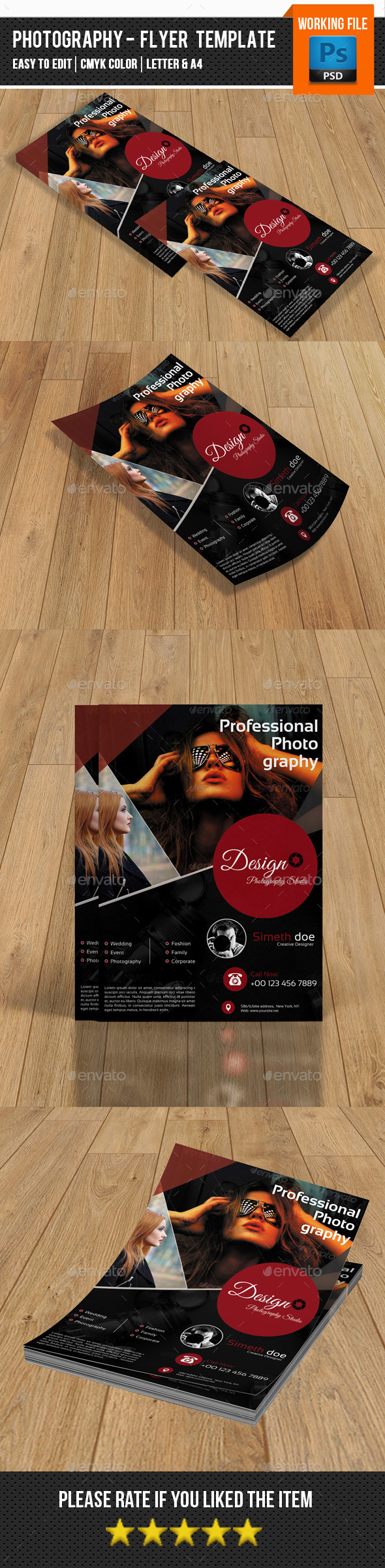 Photography Flyer Template-V126 - Corporate Flyers