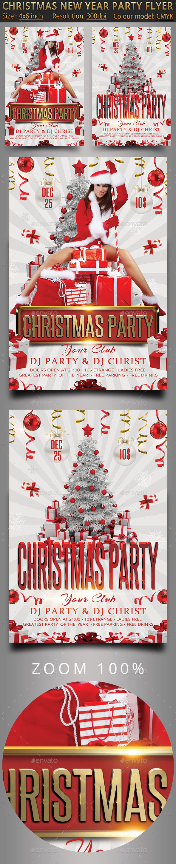 Christmas New Year Party Flyer - Events Flyers