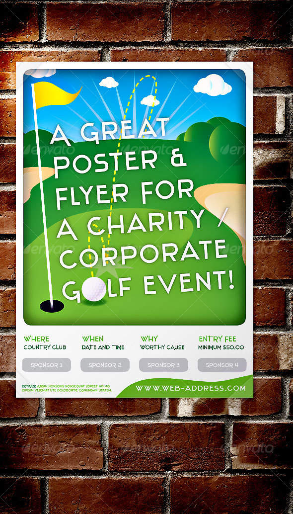 Golf Event Poster / Flyer for Corp / Social use - Miscellaneous Events