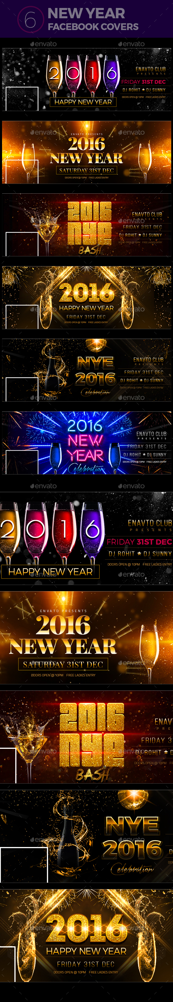 New Year Party Facebook Covers - Facebook Timeline Covers Social Media