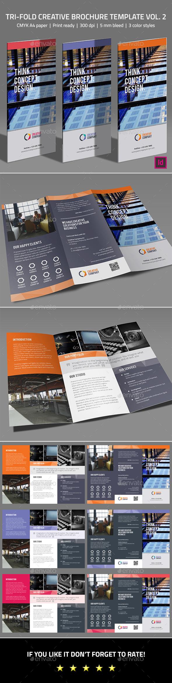Tri-fold Creative  Brochure Template Vol. 2 - Corporate Business Cards
