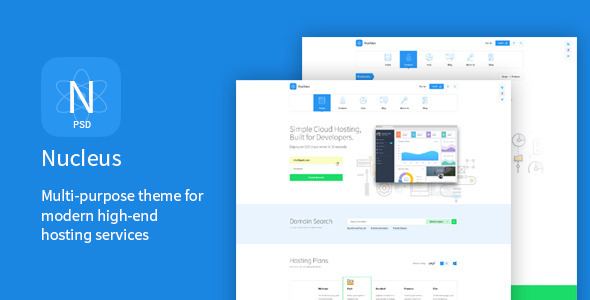 Nucleus – Multi-Purpose Hosting PSD Template