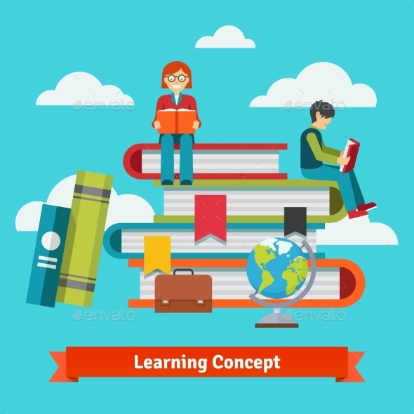 Classic Learning Education and School Concept - People Characters