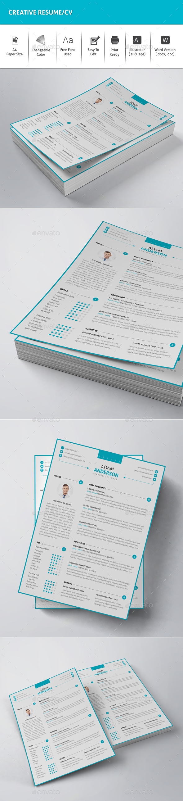 Creative Resume/CV - Resumes Stationery