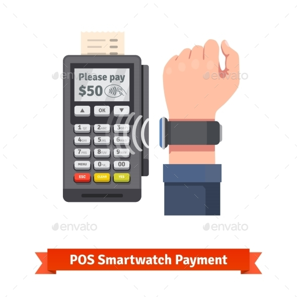 Smart Watch POS Terminal Payment - Man-made Objects Objects