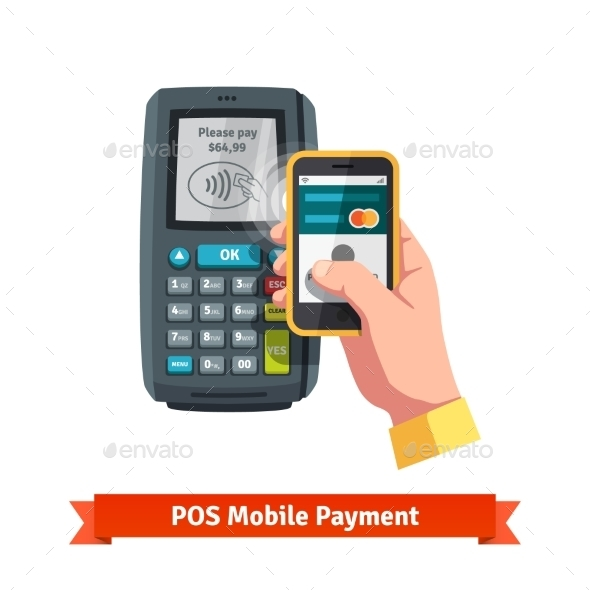 Mobile Payment Trough POS - Man-made Objects Objects