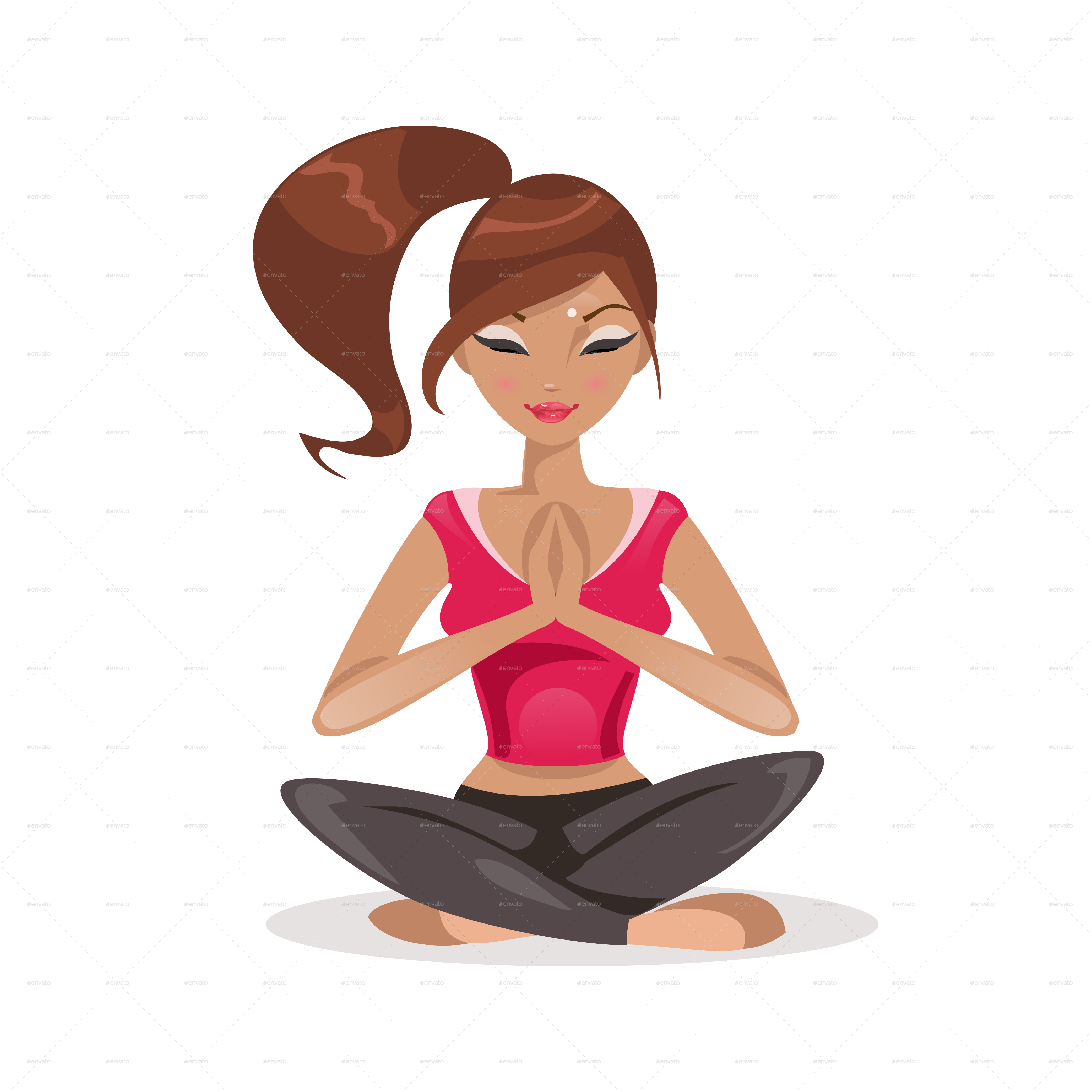 Woman Practicing Yoga By Artbesouro Graphicriver