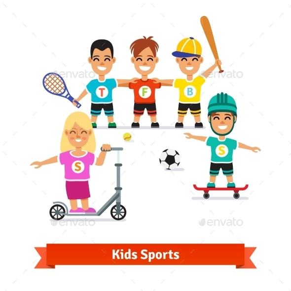 Girl and Boys Physical Activities - Sports/Activity Conceptual