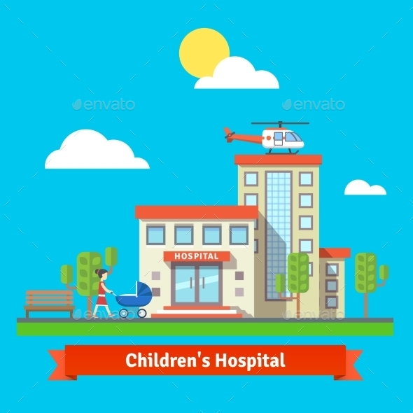 Children Hospital and Clinic Building - Buildings Objects