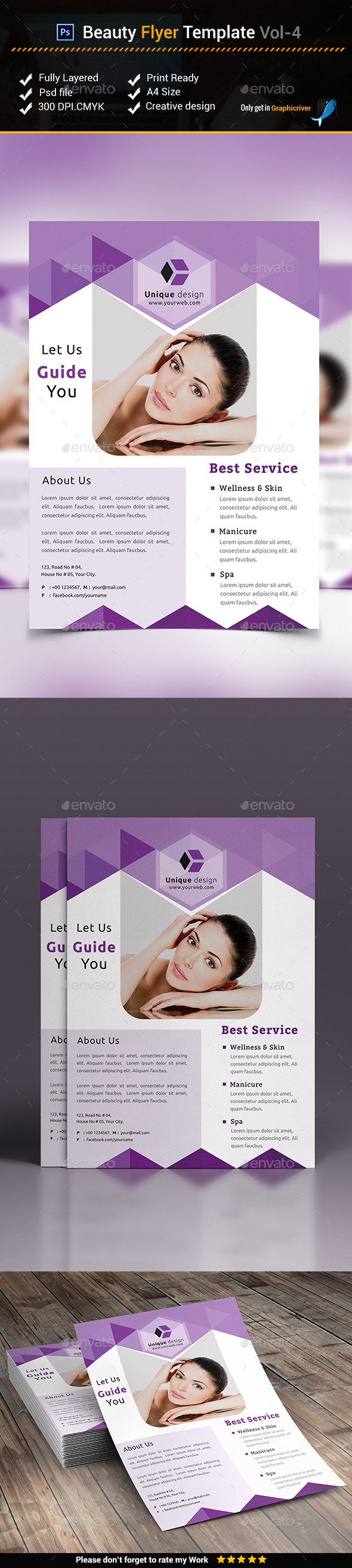 Beauty Flyer Template vol-4 - Corporate Flyers