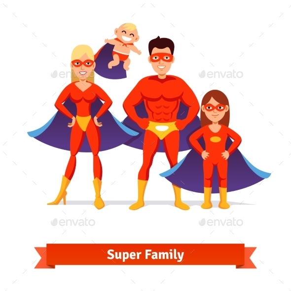 Super Family - People Characters