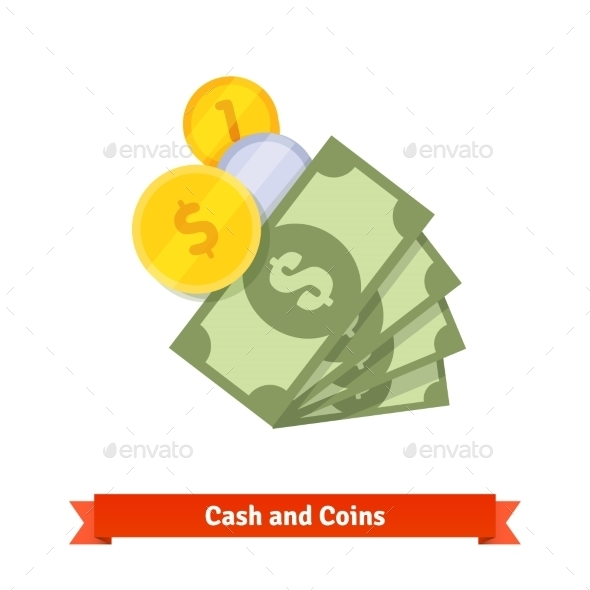 Cash and Coins - Concepts Business