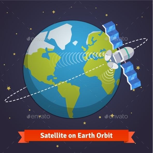 Telecommunication Satellite on the Earth - Communications Technology